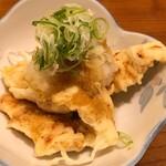 やぶ福 - 名物セットの鶏天ポン酢