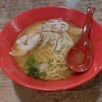 鶏一心 - 焼きあご出汁鶏白湯840円