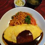 あけぼの - オムライス&洋食屋のナポリタン(大盛)1300円(大盛プラス300円)