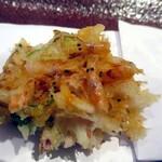 蕎麦といろり焼 創 - 桜エビのかき揚げ