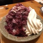 コメダ珈琲店 - 料理写真:かき氷 ミックスベリー&ソフト、練乳