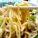 味処天神丸福 - エッジのあるモチモチ麺