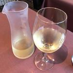 ズッカ - まずは白ワインで…