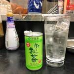 酒の高橋 - 緑茶割り(430円)