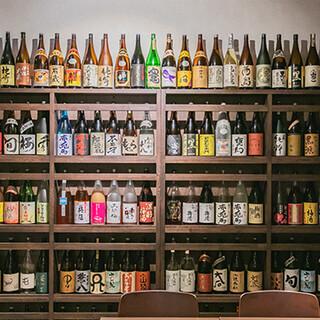 全国から仕入れた焼酎は常時250種の銘柄がずらり!ワインも◎