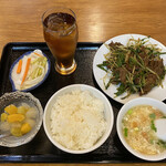 モンゴルレストラン郷 - Cランチ 羊肉クミンパウダー炒めセット850円税込み