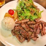 ルヴァン - 豚ハツ肉の網焼きステーキ