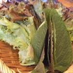 テ~ハンミング - サムギョプサルについてくる野菜