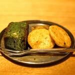 Mixology Salon - 抹茶のブラウニー と お煎餅