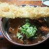 きそば五郎 - 料理写真:あなご天・カツカレーそば(¥1180)。 10食限定に間に合って良かったー!