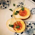 菜香餃子房 - 燻製玉子(税別250円)