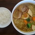 バルム食堂 - 料理写真:カリ~ら~麺(大盛)
