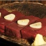 薩摩 牛の蔵 - 【厚切りレバ焼】新鮮なレバーをさっとあぶってどうぞ。