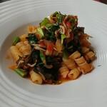 Osuteriayururi - 釜あげシラスと小松菜のパスタ