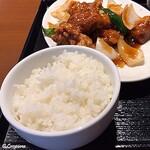 中国料理 空 - 黒酢の酢鶏とライス
