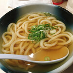 麺散 - 温かいかけうどん