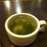 13685466 - わかめスープは胡椒が入っていてピリッとした味わい