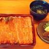 大和田 - 料理写真:鰻かさね重。ご飯の中にさらに鰻が入っている。ボリューム満点。