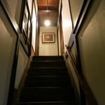 一二三庵 - 今日は、二階のお座敷だそうです。