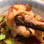 川せみ - 秋せみ蕎麦:きの子と豚バラ肉つけ汁アップ