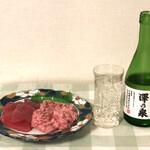 まぐろ 金華さば 焼き魚 金市朗 - 金市朗のまぐろで澤ノ泉をグビグビ!