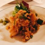 136882668 - ホタテ・ズッキーニ・グリーンピースのサラダ