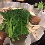 京都 瓢斗 - 出汁しゃぶ 上野菜盛