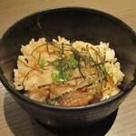 個室 牛タン 海鮮 飲み放題 東北商店 - 松茸の炊き込み飯。     2020.09.18