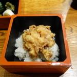 みかわ 是山居 - 2012.07.02:〆の貝柱かき揚げ天丼