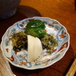 みかわ 是山居 - 2012.07.02:〆の貝柱かき揚げ天茶・香の物