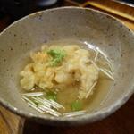 みかわ 是山居 - 2012.07.02:〆の貝柱かき揚げ天茶