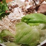 魚金 - ブリしゃぶ鍋 野菜