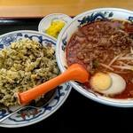 福の家 - 料理写真:坦々麺+高菜炒飯