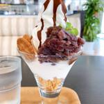 高知アイスカフェ よさこい咲都 - 土佐のおやつパフェ