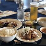 広東名菜 龍宮 - ランチセット(油淋鶏と回鍋肉 他)