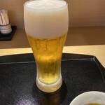 てんぷら食堂 ひさご - 生ビールはスーパードライ