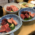 竹原 - マグロ定食と上マグロ刺身