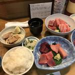 竹原 - マグロ定食1500円 安いです