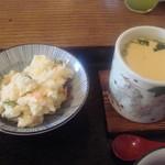 田や - ポテトサラダ・茶碗蒸し