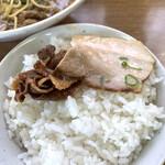 136933213 - デフォルト豚バラ肉とオプションチャーシュー