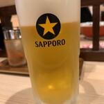 拉麺 大公 - 生ビール