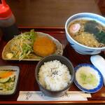 そば処吉野庵 - 料理写真:たぬきセット