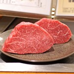 神楽坂 鉄板焼 中むら - 川岸牧場産神戸牛のシャトーブリアン