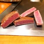 神楽坂 鉄板焼 中むら - 川岸牧場産神戸牛のシャトーブリアンステーキ