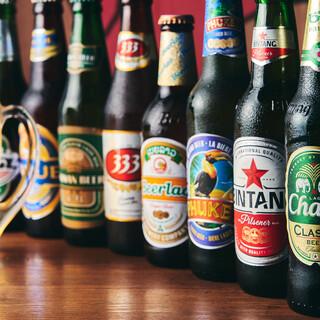 60種以上❗️と豊富なドリンク。珍しい【アジアビール】も♪