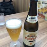 8番らーめん - 瓶ビール中