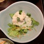 13697079 - 海鮮五色納豆定食 900円 のポテトサラダ