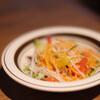 Mitoyazawa - 料理写真:まずはサラダに赤出汁