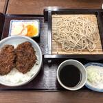 大村支店 - 「ソースひれかつ丼セット」1100円