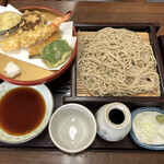 大村支店 - 「海老天盛りせいろ」1350円